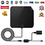 ?2018 UPGRADED? TV Antenna - Digital Amplified HDTV Antenna 50 Mile Range 4K Freeview Television Local Channels w/Detachable Signal Amplifier and 13ft Longer Coax Cable (Color: 13 ft, Tamaño: TV Antenna)