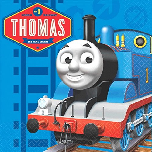 "Amscan Cool Thomas The Tank Engine Birthday Party Beverage Napkins (16 Piece), 5 x 5"", Blue - 1"