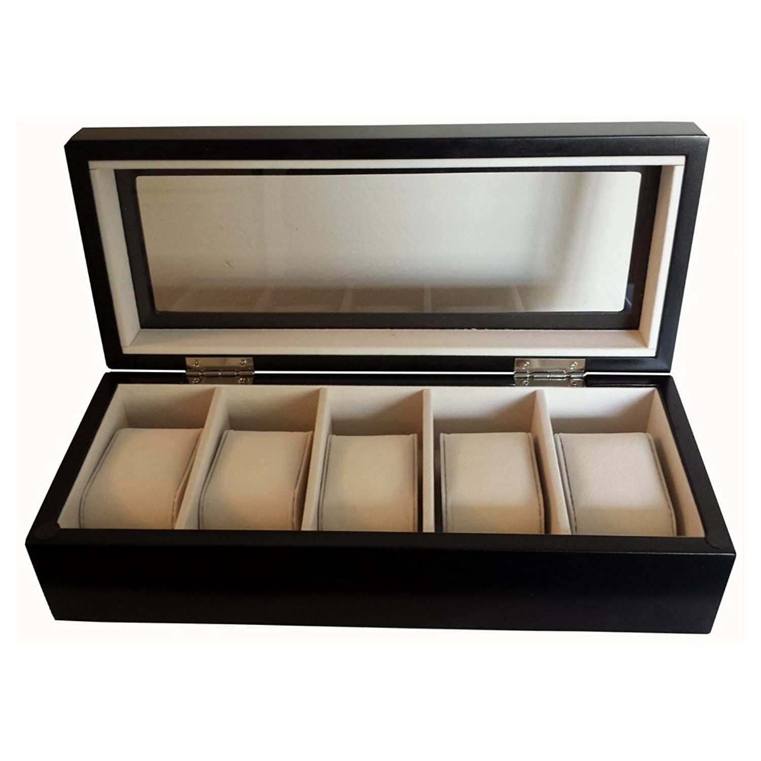 Wooden Watch Display Box Luxury Black Wooden Watch Box