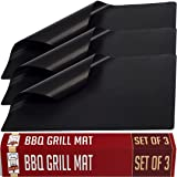 Twisted Chef BBQ Grill Mats Non Stick - Best for Charcoal and Gas Grills - Essential Grill Accessories and Barbecue Tools - Set of 3 Sheets (Color: Black, Tamaño: 13