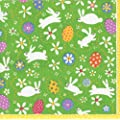 Entertaining with Caspari Bunny Hop Paper Cocktail Napkins, Pack of 20