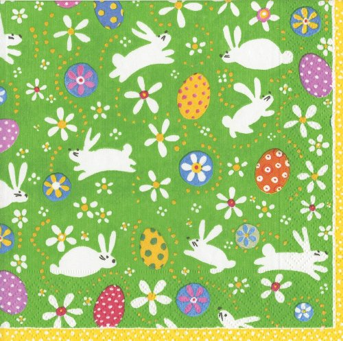 Easter gift wrap paper fancy gift wrap entertaining with caspari bunny hop paper cocktail napkins pack of 20 negle
