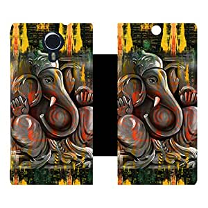 Phone Candy Designer Flip Cover with hi-res printed Vinyl sticker wrap-around for Micromax Canvas Xpress 2 E313