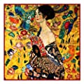 Art Nouveau Artist Gustav Klimt's Woman with a Fan Counted Cross Stitch Chart/Graph
