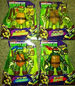 "TEENAGE MUTANT NINJA TURTLES - 10"" TMNT BATTLE SHELL FIGURES SET OF 4"