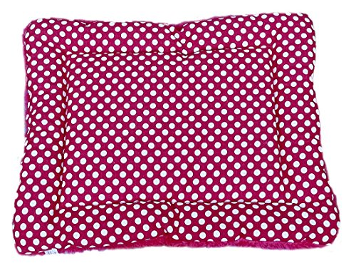 WXQ Pet Bed Mat Pillow for Cats and Small Dogs,All Seasons Mat Dog Bed,Pet Bed (Rose red Dot, M)