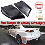 Carvicto - 2PC Car Rear Bumper Lip Spats Aprons Diffuser Splitters Protector For Mitsubishi Lancer Evolution X EVO 10 2008-2015 Side Bumper