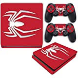 Spider-Man Special Limited Edition Red Spiderman Video Game Vinyl Decal Skin Sticker Cover for Sony Playstation 4 Slim