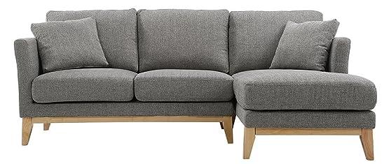 Miliboo - Divano con angolo destro scandinavo grigio chiaro OSLO
