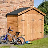7ft x 3ft Shiplap Apex Wooden Bike Storage Shed - Brand New 7x3 Tongue and Groove Sheds