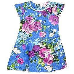 Rush Me Baby Girls' Dress (S.R.1007_5 Years, 5 Years, Royal Blue)