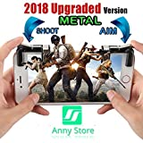 [Upgraded Version] Fortnite Mobile Controller - Mobile Game Controller for PUBG - Sensitive Aim Triggers for PUBG/Rules of Survival - L1R1 Mobile Game Trigger Joystick Gamepad for Android IOS