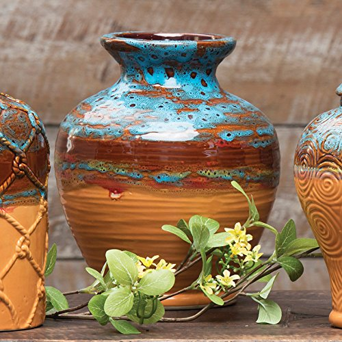 Canyon Sunset Ceramic Round Southwestern Vase