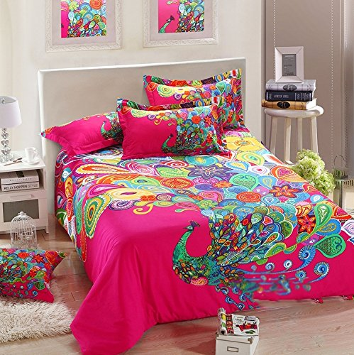 Peacock Print Bedding 2286 front