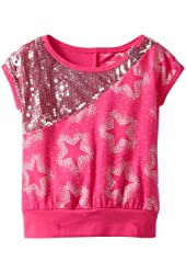 One Step Up Little Girls' Stars and Sequins Top