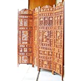 Hand Carved Partition Screen In Sheesham Wood