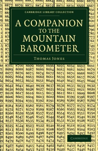 A Companion to the Mountain Barometer Paperback (Cambridge Library Collection - Earth Science)