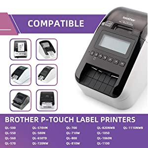 Fimax Compatible Label Replacement for Brother DK-1202 Shipping Labels 2-3/7 x 4 (62mm x 100mm) to use with QL-700 QL-800 QL-810W Label Printers, 8 Rolls + 1 Refillable Frame, 300 Labels Per Roll (Color: 8 Rolls, Tamaño: 2-3/7 x 4 (62mm x 100mm))