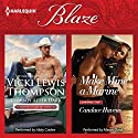 Cowboy After Dark & Make Mine a Marine: Thunder Mountain Brotherhood Audiobook by Vicki Lewis Thompson, Candace Havens Narrated by Abby Craden, Mason Lloyd