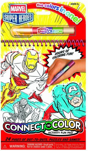 Bendon Marvel Super Heroes Connect and Color Activity Book