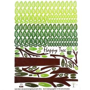 Happy Tree PVC Wall Sticker Wallpaper 2189@Kuntaashop from BgUK