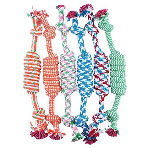Malloom® 1PC Giocattolo Del Cane Cucciolo Animale Domestico Cotone Dell'Osso Corda Intrecciata Masticare Il Nodo (Colore Casuale)