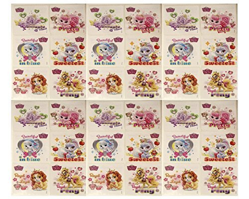 "PALACE PETS - Palace Pets Birthday Party Favor Sticker Set Consisting of 45 Stickers Featuring 6 Different Designs Measuring 2.5"" Per Sticker"