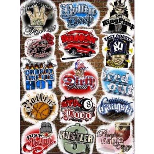 Assorted Novelty Street Slang Stickers - Case Pack 144 SKU-PAS915955