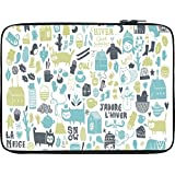 Snoogg Lifestyle Pattern 2562 10 To 10.6 Inch Laptop Netbook Notebook Slipcase Sleeve