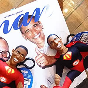 "Super President Barack Obama Plush Keychain Says ""Yes We Can"""