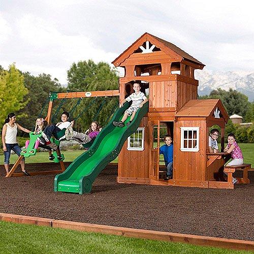 Backyard Discovery Shenandoah Cedar Wood Swing Set front-66683