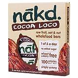Nakd Cocoa Loco Fruit, Oat & Nut Bars (4x30g)