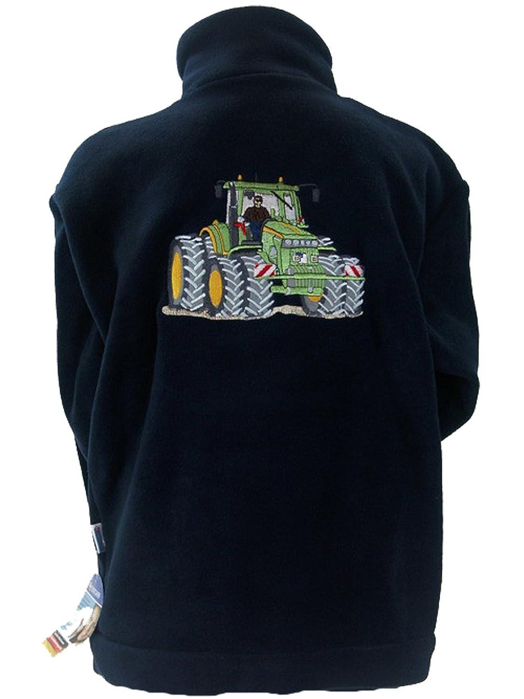 Jungen Fleece Jacke Stickerei Traktor Zwillingsreifen, Farbe blau kaufen