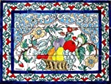 Decorative Ceramic Tiles: Hand Painted Mosaic Murals Kitchen Bathroom Pool Patio Wall Art 24 Inch x 18 Inch