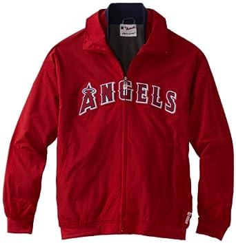 MLB Los Angeles Angels Triple Peak Premier Jacket, Red Navy by Majestic