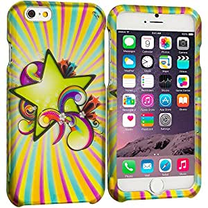Accessory Planet(TM) SuperStar 2D Hard Snap-On Design Rubberized Case Cover Accessory for Apple iPhone 6 Plus (5.5)