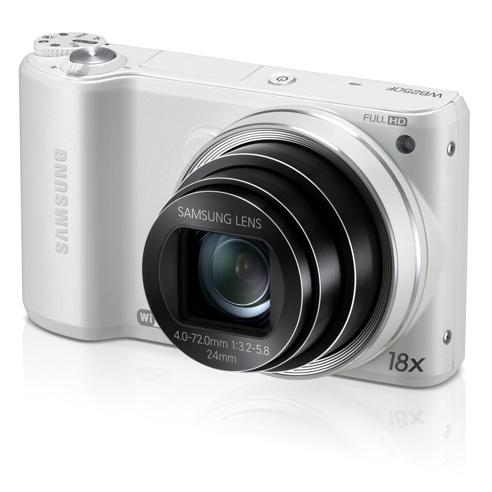 Samsung WB250F 14.2MP CMOS Smart WiFi Digital Camera with 18x Optical Zoom, 3.0-inch Touch Screen LCD and 1080p HD Video (White)