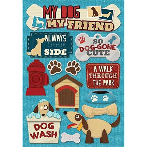 Karen Foster Design Acid And Lignin Free Scrapbooking Sticker Sheet, My Dog My Friend