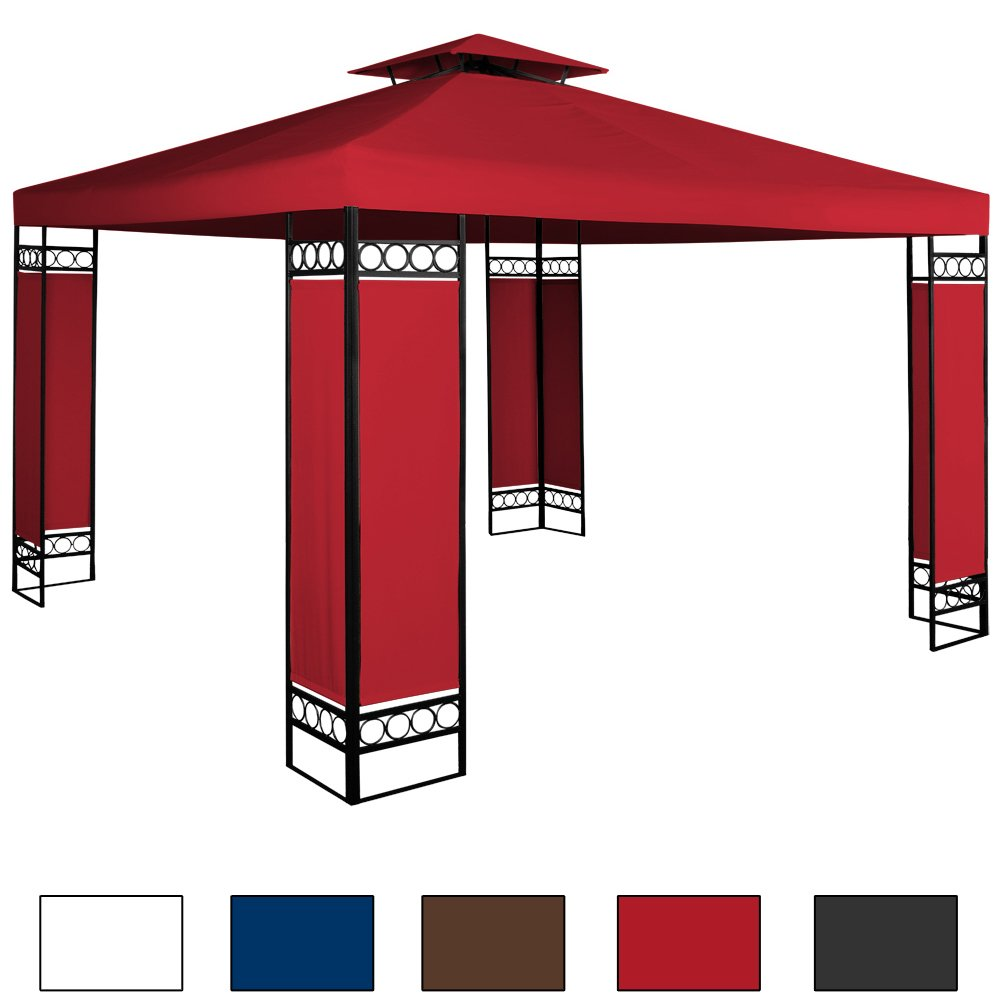 Pavillon 3x3m Festzelt Partyzelt Gartenpavillon Bierzelt Garten Eventpavillon Rot jetzt kaufen