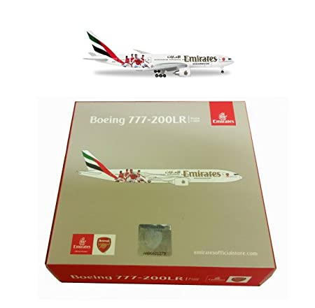 Maquette BOEING 777-200LR Emirates Equipe de Football d'ARSENAL LONDON 1/500