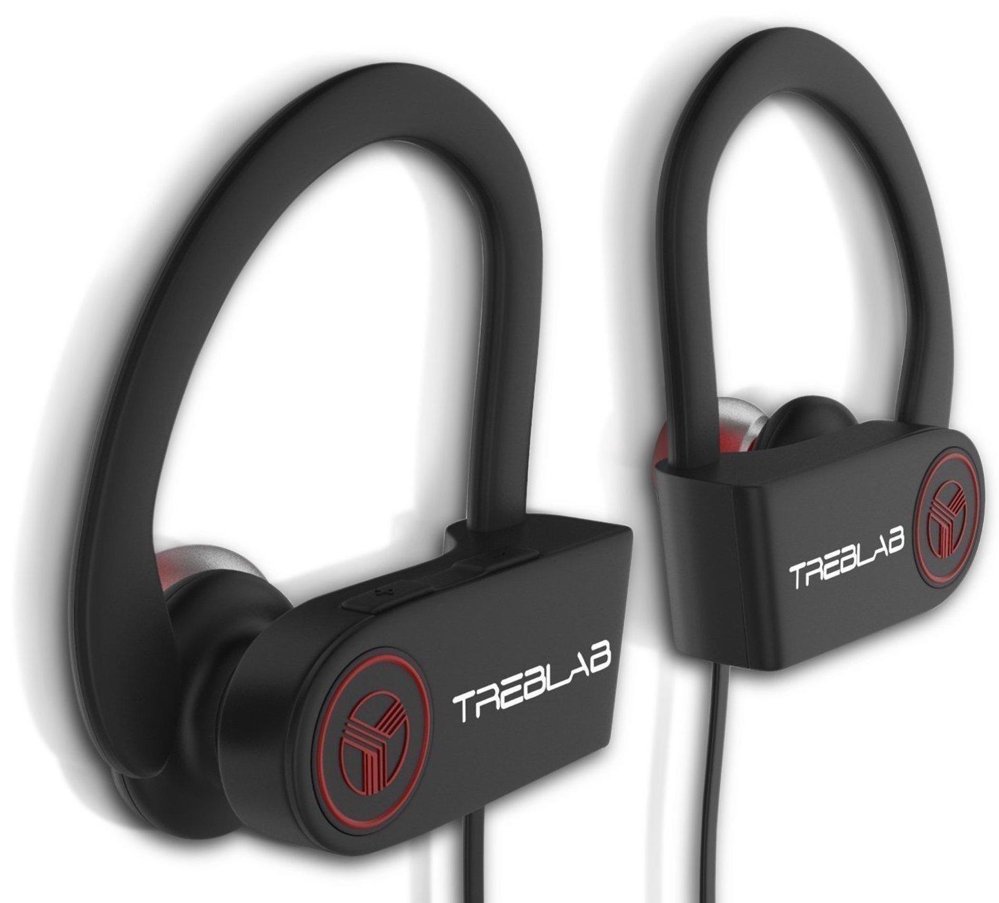 TREBLAB XR100 Bluetooth Sport Headphones, Best Wireless Earbuds