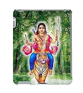 Fuson 3D Printed Lord Kartikeya Designer Back Case Cover for Apple iPad 2 - D518