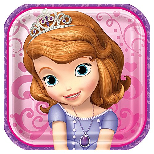 Sofia the First 7 Inch Plates [8 Per Pack]