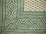 Block Print Tapestry-Indian Bedspread-Coverlet