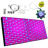 HQRP 28W 450 LED Blue + Red Plant Grow Light Panels / Lamps + Hanging Kit + UV Meter