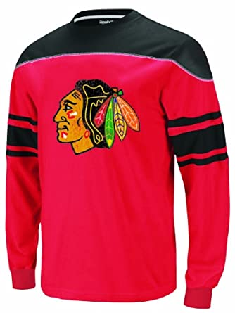 NHL Toddler Chicago Blackhawks Shootout L/S Tee - R54Dxydd (Red, 2T)