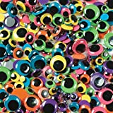Paste-On Wiggle Eyes Assorted 7Mm To 15Mm 100/Pkg-Brights