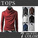 B-Market ボリュームネック 長袖 セーター メンズ [bmjh70] M ブラック