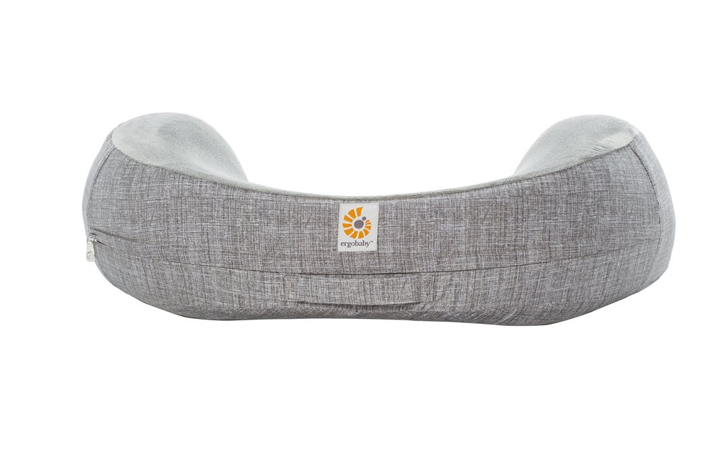 ERGObaby Natural Curve Nursing Pillow Plus Cover, Heathered Grey