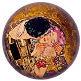 Gustav Klimt Crystal Glass Paperweight - The Kiss